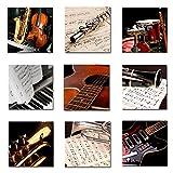 Cuadros Decorativos 9 Piezas by Joss Design Instrumentos Musicales