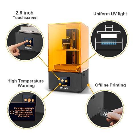 LONGER Orange 10 Impresora 3D, Resina Impresora 3D SLA con ...