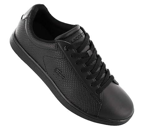 Lacoste Carnaby Evo Damen Sneaker Schwarz: : Schuhe