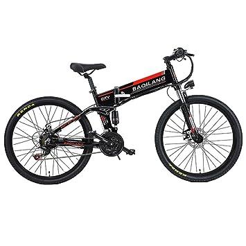 MERRYHE Bicicleta De Carretera Eléctrica 350W 48V 10Ah Batería De Litio Extraíble Montaña Ebike 21 Velocidades