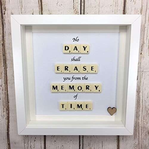 Sentimental gift, Handmade picture with quote, Memorial ...