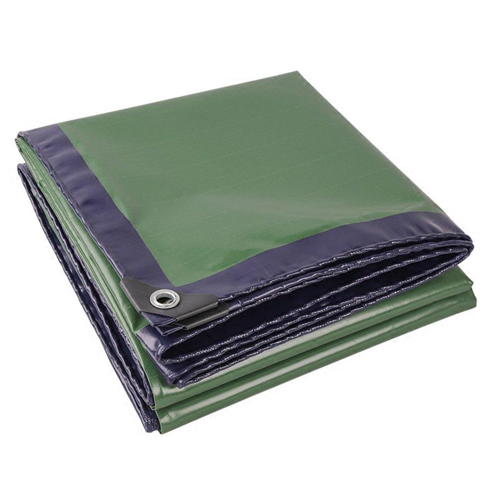 CHAOXIANG オーニング 厚い 両面 防水 耐寒性 日焼け止め 耐食性 耐引裂性 耐摩耗性 防塵の PVC 緑、 420g/m 2、 厚さ 0.45mm、 17サイズ (色 : 緑, サイズ さいず : 4×6m) B07DBPCCB1 4×6m|緑 緑 4×6m