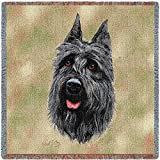 Pure Country 1939-LS Bouvier Des Flandres Pet Blanket, Canine on Beige Background, 54 by 54-Inch