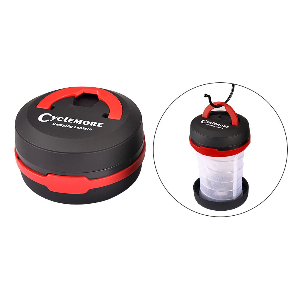 CycleMore 2 Pack Portable Mini LED Lantern Collapsible Camping Light Battery Powered Flashlight 3 Modes Water Resistant Lamp for Outdoor Home Garden Hiking Emergency Outages (Batteries Not Included) by CycleMore (Image #3)