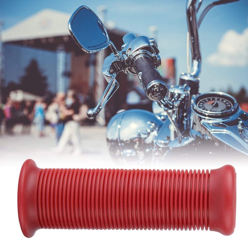1 Par 1 Pulgada 25mm Empu/ñadura de Manillar de Motocicleta Antideslizante Barra de Goma de Motocicleta Universal TPU Vintage Agarre de Manillar de Motocross Pu/ños de Manillar Moto Negro