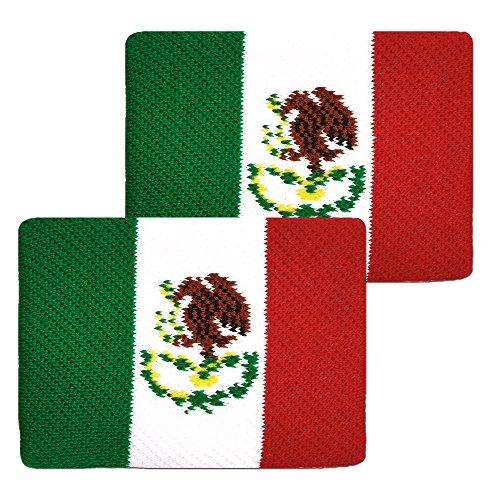 Unique Sports Flag Wristbands, Mexico Flag sweatbands by Unique Sports