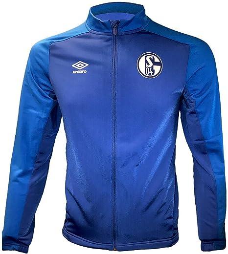 UMBRO FC Schalke 04 Kinder Jacke mit Kapuze S04 Junior Fan Sportjacke Hoodie