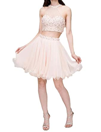 TANGFUTI Two Piece Beaded Homecoming Dresses Short Prom Gowns 109CE-US2 …
