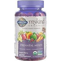 Garden of Life - mykind Organics Prenatal Gummy Vitamins - Berry - Organic, Non-GMO, Vegan, Kosher Complete Multi - Methyl B12, D3 & Folate - Gluten, Soy & Dairy.