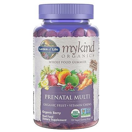 Garden of Life - mykind materia orgánica Prenatal Multi todo alimento gomitas Berry - 120Gomitas