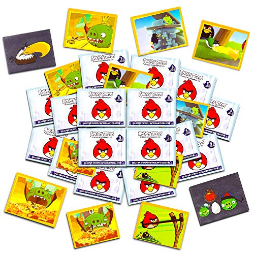Angry Birds Stickers Party Favors Set -- 16 Sticker Packs (Angry Birds Party Supplies) (Party Favors Angry Birds)