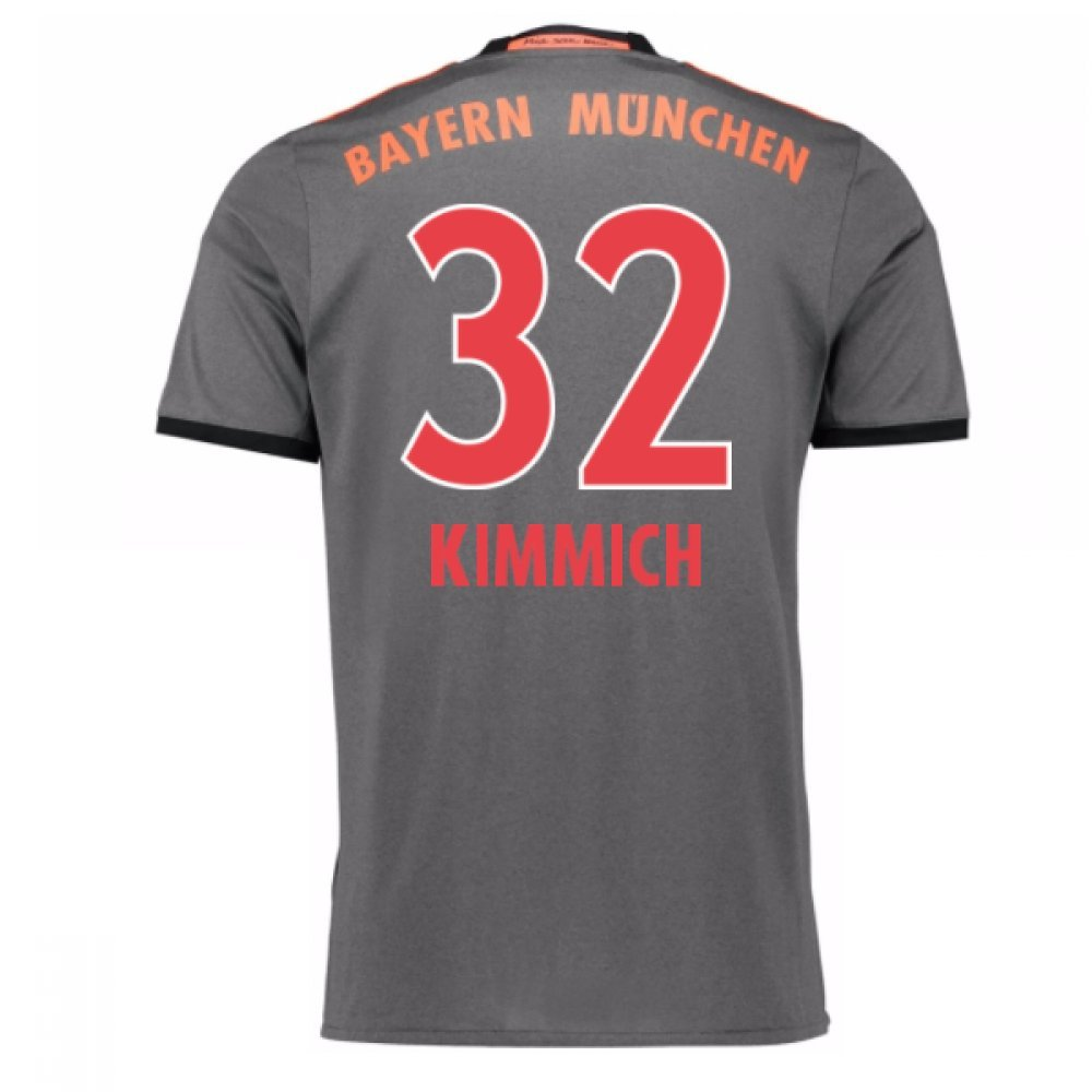 2016-17 Bayern Munich Away Football Soccer T-Shirt Trikot (Joshua Kimmich 32)