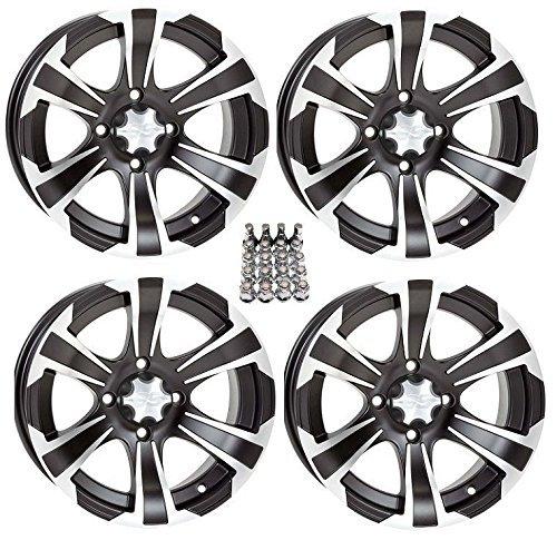 "ITP SS312 ATV Wheels/Rims Black 12"" Polaris Sportsman RZR Ranger (4)"