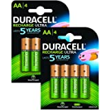 Duracell Pre Charged Rechargeable 2400mAh AA Batteries--Pack of 8