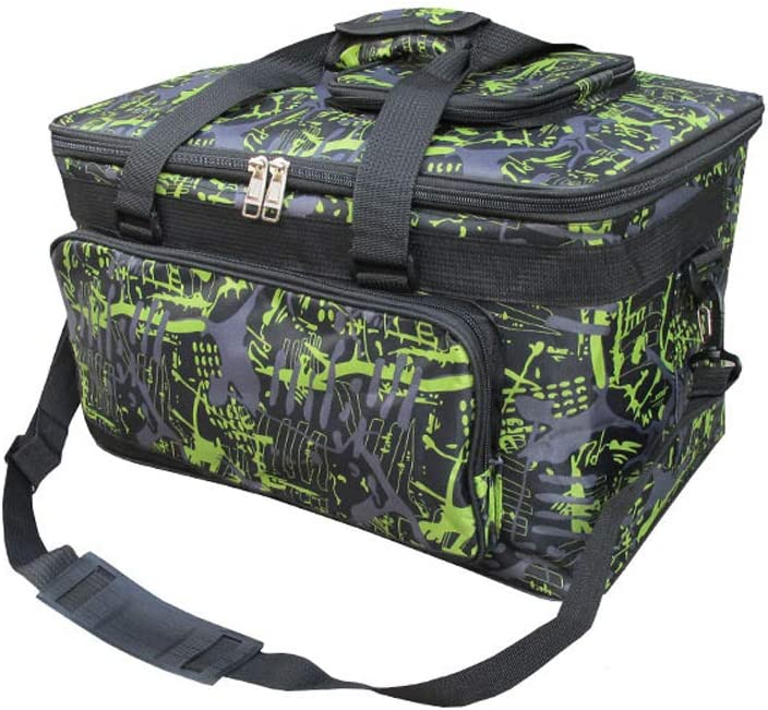 Large Painting Travel Tote Bag for Paints,Paint Brushes//Pen//Pencil Green Professional Art Supplies Storage Bag with Shoulder Padded Strap Pallet,Sketchbook,Paint Bucket,8K Sketch Paper