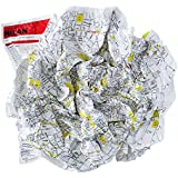 Crumpled city map. Milan