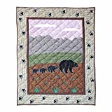 Patch Magic 36-Inch by 46-Inch Bear Country Quilt Crib