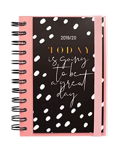 Agenda escolar 2019/2020 día página S Glitter: Amazon.es ...