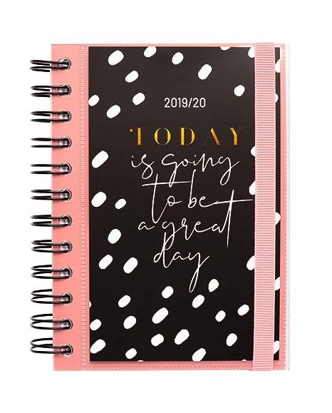 Agenda escolar 2019/2020 día página S Glitter
