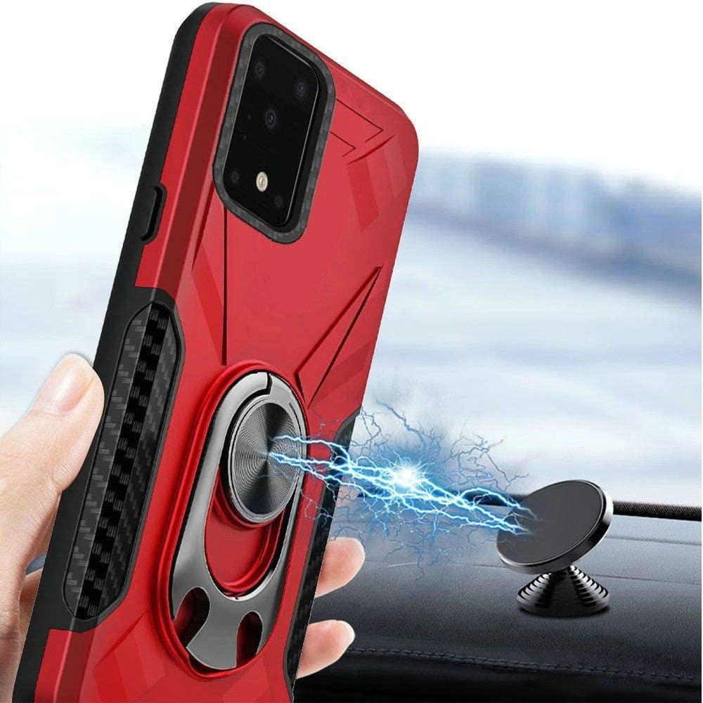 Bemz Case for Samsung Galaxy S20 Ultra Dual Series Bottle Opener Stand Car Mount Ready Heavy Duty Armor Rugged Cover with Tempered Glass Screen Protector and Atom Wipe Red