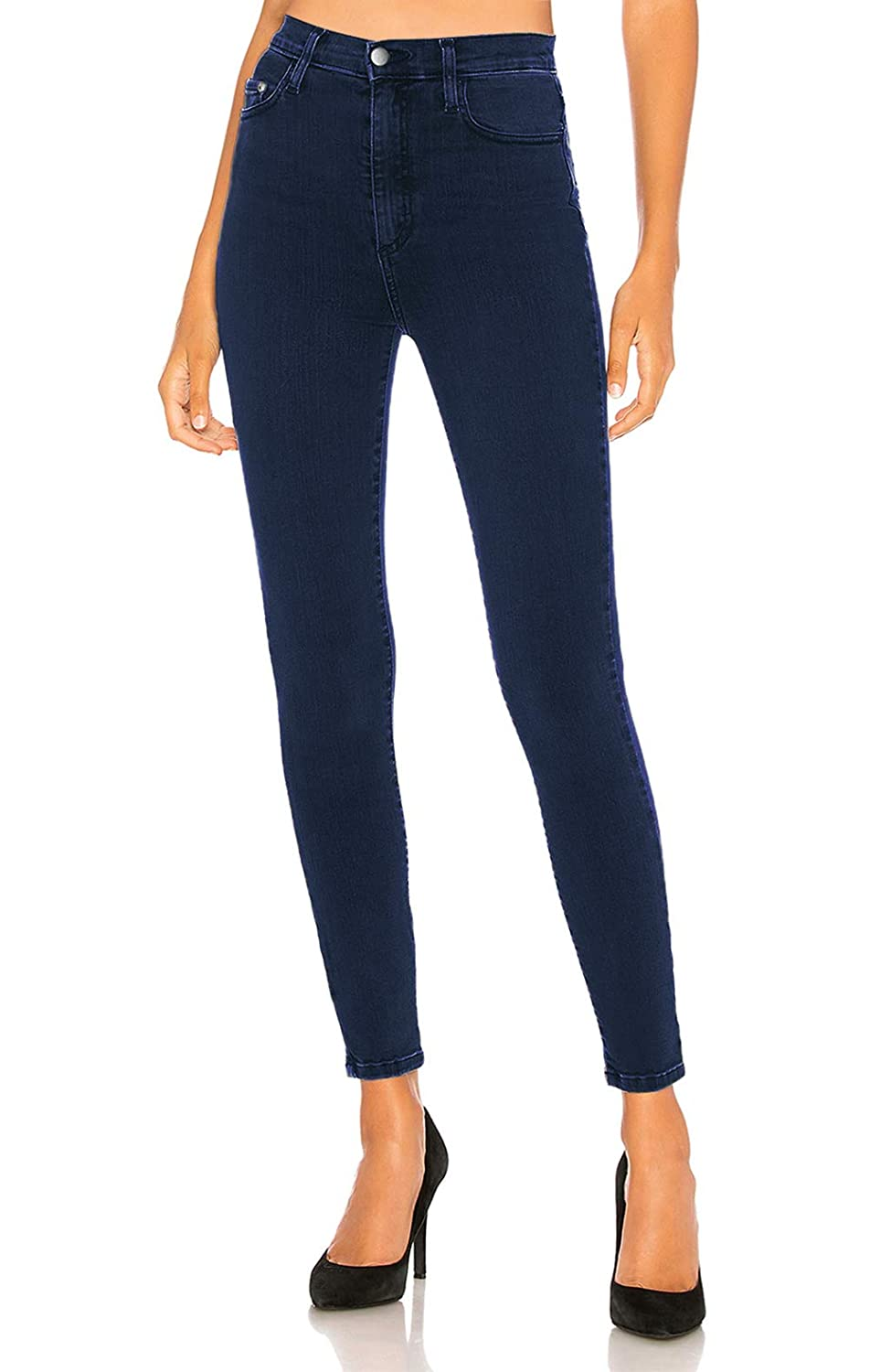 MONYRAY Women High-Waisted Stretch Denim Pants Washed Skinny Jeans