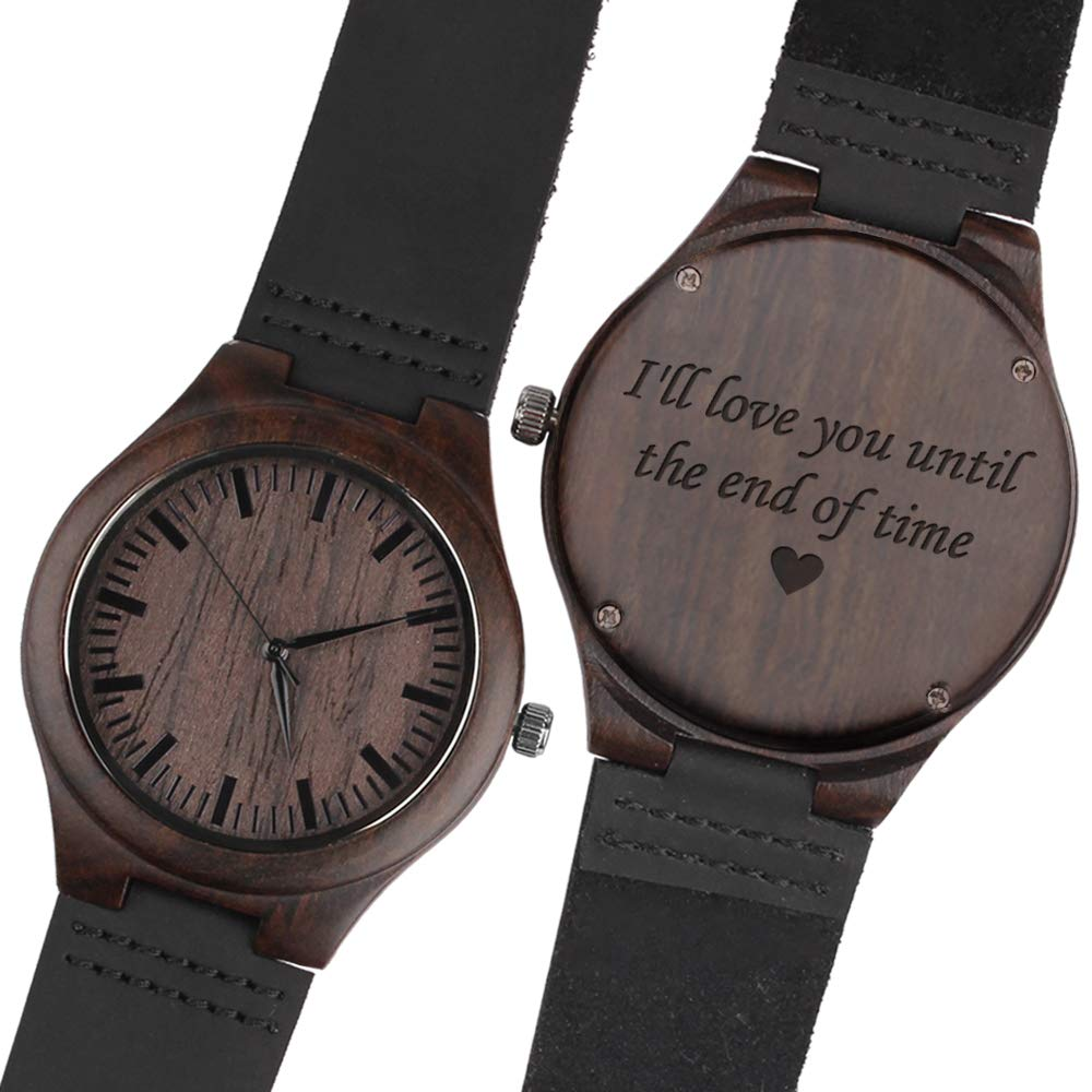 da0f6f30577a Amazon.com  Personalized Wood Wrist Watch for Men Best Gifts for Husband  Gift Ideas Personalized Gift for Husband Gifts for Him Unique Gifts Husband   ...
