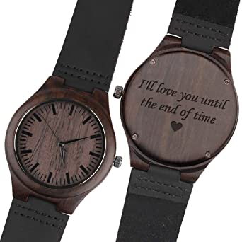 7c5fb081dfc78 Amazon.com  Personalized Wood Wrist Watch for Men Best Gifts for Husband  Gift Ideas Personalized Gift for Husband Gifts for Him Unique Gifts Husband   ...