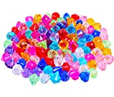 TBJSM Acrylic Crystal Gems Jewels Pirate Treasure for Table Scatters,Vase Fillers,Events,Wedding Decoration,Birthday Party Favor Supplies 7/8''x1'' Size, 100 Pcs