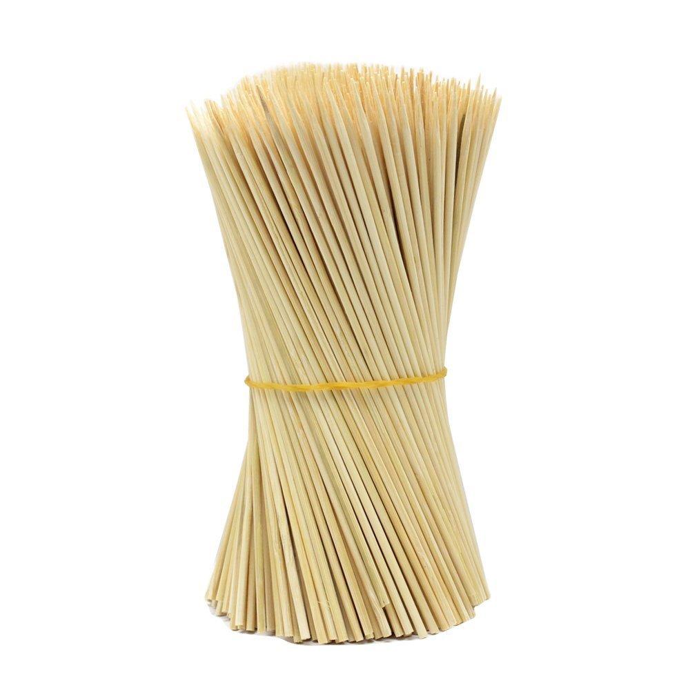 Lumanuby - 90 pinchos de madera para barbacoa, utensilios de barbacoa desechables, palos de bambú, perfecto para barbacoa, carne y vapores mucho más (15 cm)