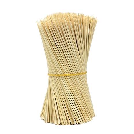 Lumanuby - 90 pinchos de madera para barbacoa, utensilios de barbacoa desechables, palos de bambú, perfecto para barbacoa, carne y vapores mucho más ...