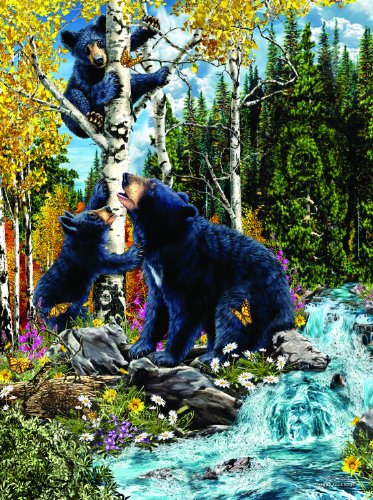 15 Black Bears 1000 pc Jigsaw Puzzle