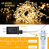 GDEALER Super Bright Copper Wire Lights Waterproof Plug in Fairy Lights,16ft 300 Led String Lights Bedroom, Patio, Parties Christmas Lights Christmas Decor Warm White