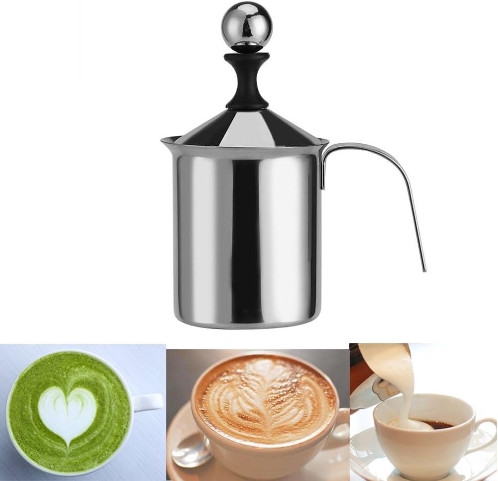 240 ml acero inoxidable para leche iKALULA chocolate para calentar y espumar leche caliente y fr/ío Espumador de leche el/éctrico caf/é