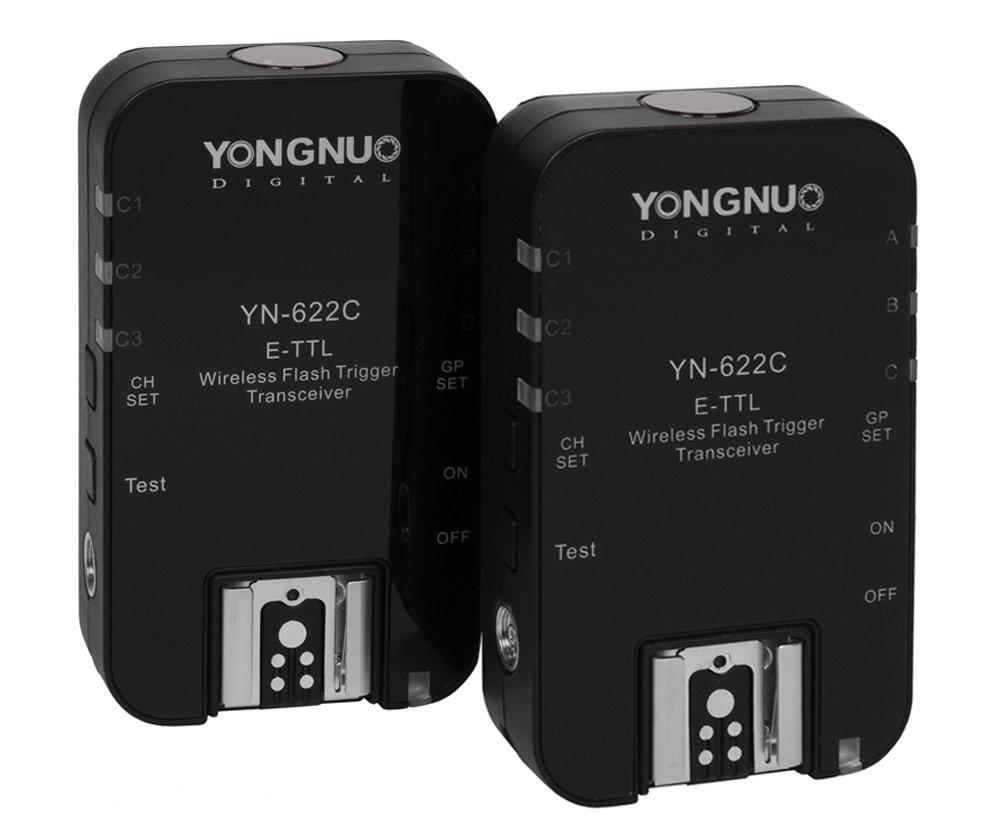Yongnuo 1 x YN-622C-TX + 2 x YN-622C RX E-TTL LCD Wireless Flash Controller Wireless Flash Trigger Transceiver For Canon EOS DSLR