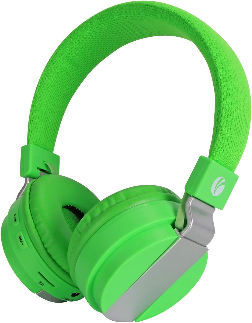 VCOM Bluetooth Headphones, Wireless and Wired Foldable Headset Stereo Music On Ear Earphones with Microphones for Kids/Teens/Youth, Compatible for Smartphones iPhone iPad Tablets Laptop PC (Green)