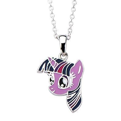Amazon hasbro jewelry my little pony twilight sparkle womens hasbro jewelry my little pony twilight sparkle womens 925 sterling silver with 16quot chain pendant aloadofball Gallery