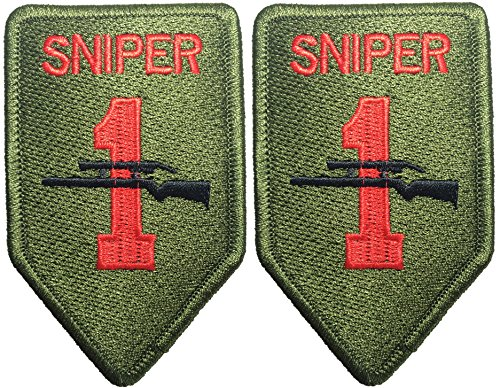 Female Drill Sergeant Costume (Rank TAB Sniper 6 x 9.5cm. x 2Pack Logo Jacket Vest Shirt Hat Blanket Backpack T-Shirt Patches Embroidered Appliques Symbol Badge Cloth Sign Costume)