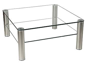 Stegert Design 42124 M Couchtisch Glas Klar 70 X 70 Cm Amazonde