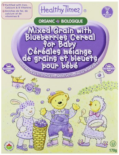 Healthy Times Organic Mixed Grain and Blueberries Cereal for Baby, 8 Ounce