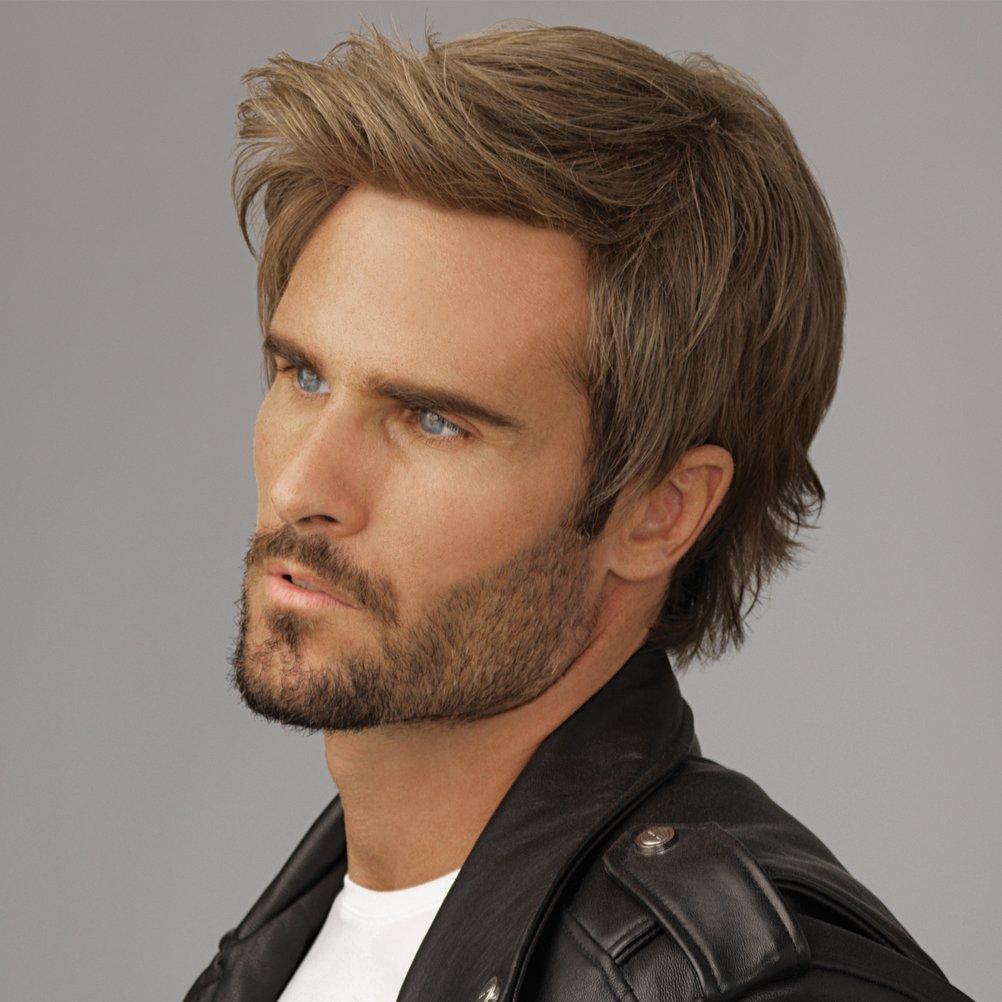 SinoArt Men's Hairpiece Human Hair Toupee Wig Super Thin Skin Hair Replacement Base Size 8''x10'' #7 Light Ash Brown