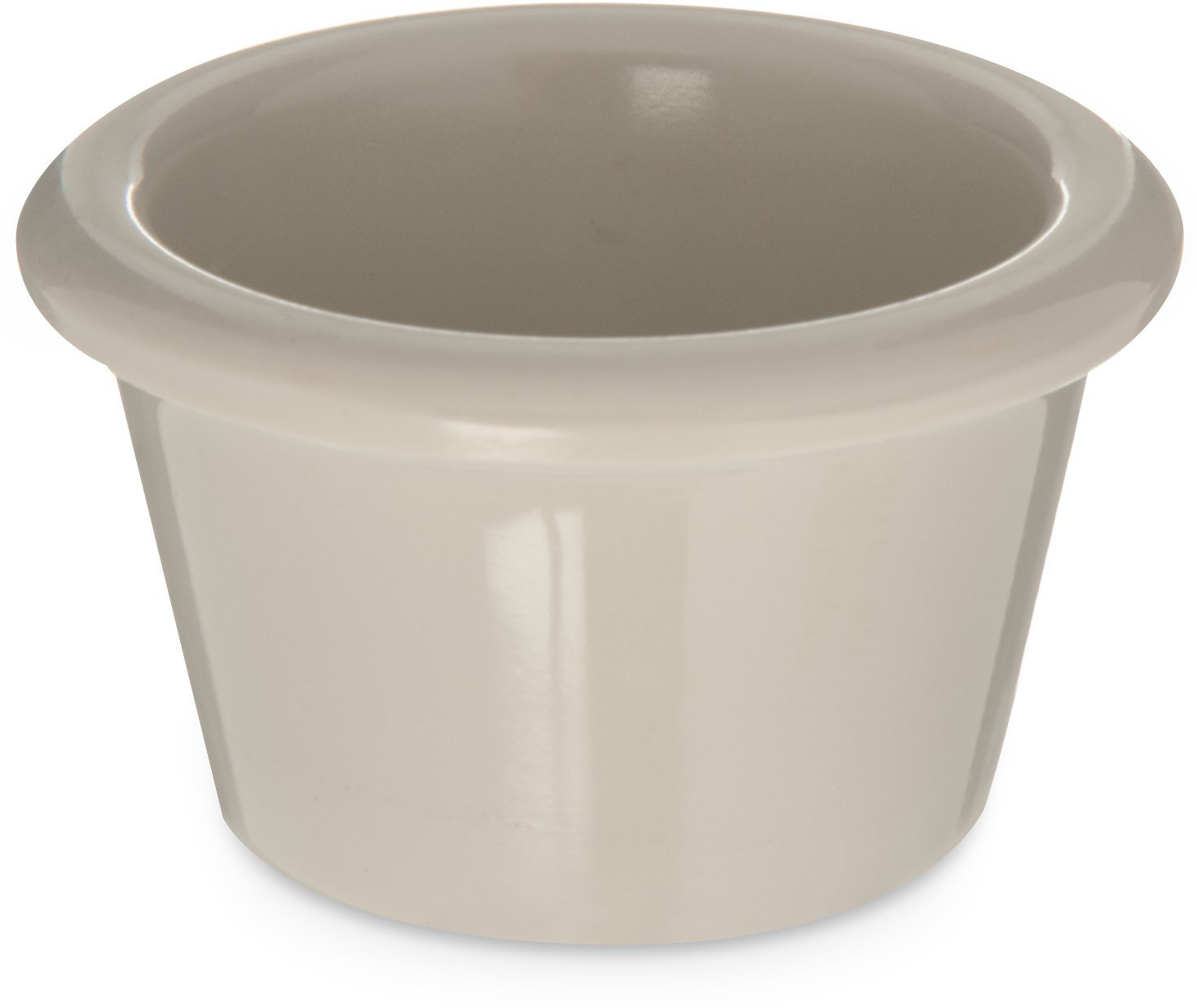Carlisle S27542 Melamine Smooth Ramekin, 1.5 oz. Capacity, Bone (Case of 48)