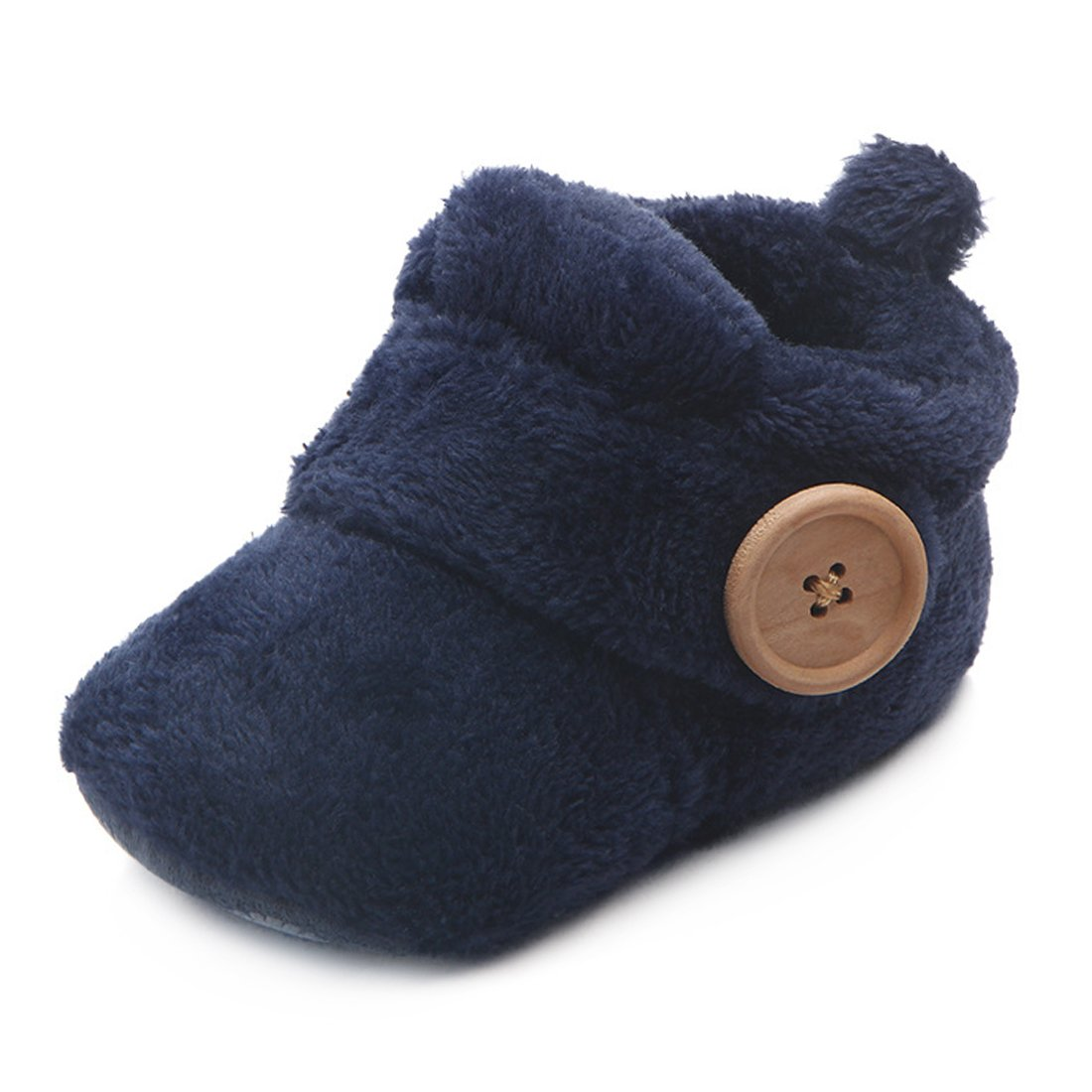 Beeliss Baby Boots Plush Warm Shoes (6-12 Months, Blue)