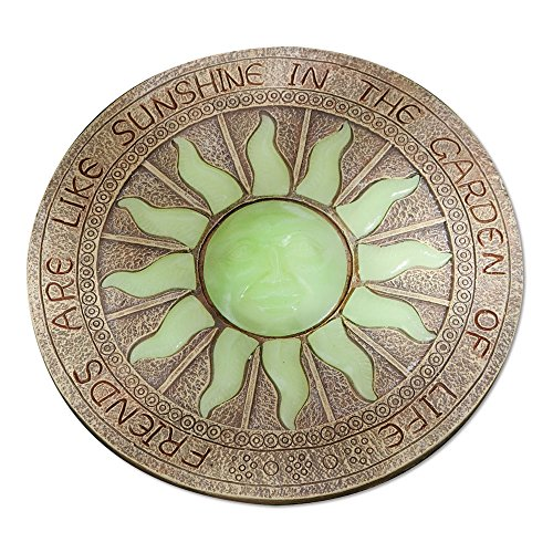 (Bits and Pieces - Sun Garden Stone - Glowing Sun in The Dark Garden Stone; Garden Décor - Stone Measures 10