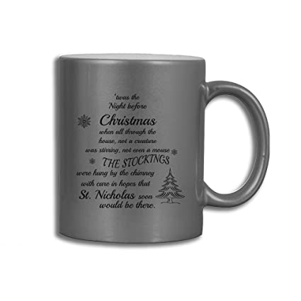 style in print twas the night before christmas funny holidays coffee tea ceramic - Funny Twas The Night Before Christmas