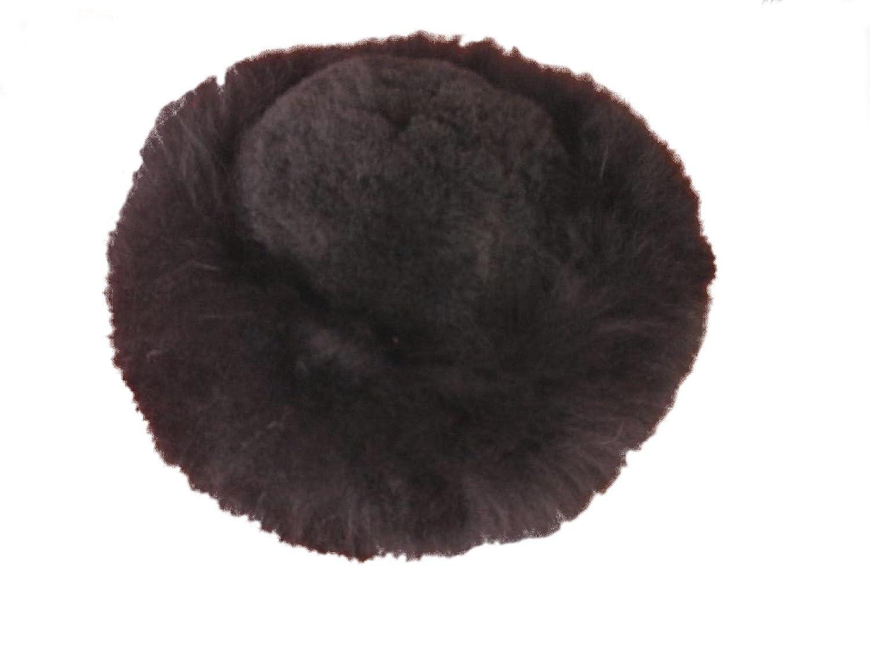 Alpacaandmore Dunkelbraune Damen Pelzmütze Babyalpaka Pelz Russische Wintermütze Mongolen Design