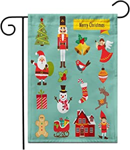 Lplpol Garden Flag Christmas Icons and Elementswooden Advent Ballerina Market Nutcracker Classical Outdoor Double Sided Decorative House Yard Flags 28x40 inches