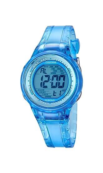 Calypso Watches Reloj Digital para Mujer de Cuarzo con Correa en Caucho K5688_1: Amazon.es: Relojes