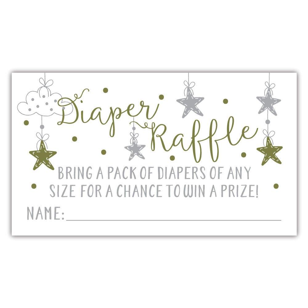 Amazon 50 Twinkle Twinkle Little Star Diaper Raffle Tickets