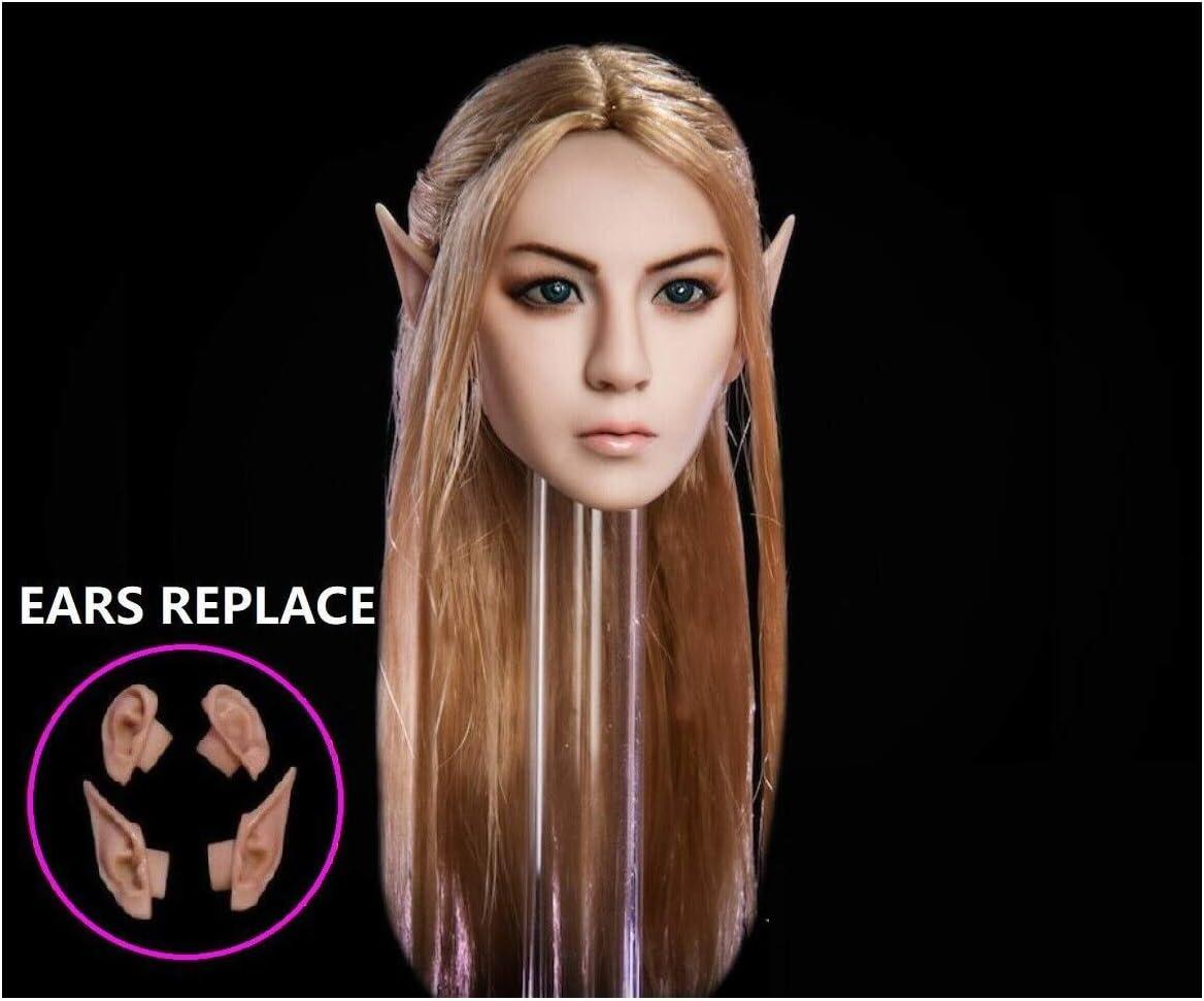 1//6 Fairy Elf Princess Head Sculpt for PALE TBLeague Phicen Female Figure Doll