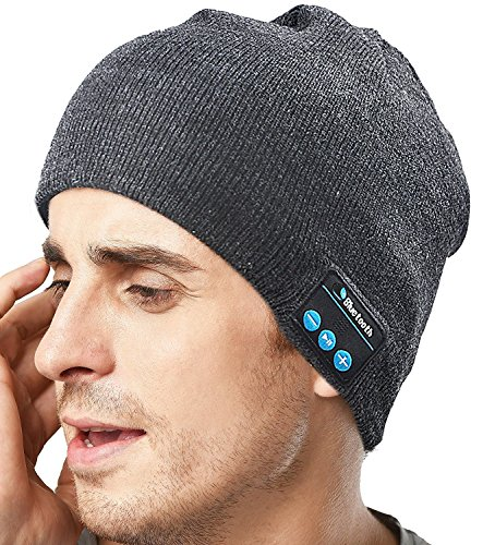 XIKEZAN Unisex Bluetooth Beanie w/ Mouth Mask Winter Knit Hat V4.1 Wireless Musical Headphones Earphones w/ Speakers Beanies Hats Cap Unique Christmas Tech Gifts for Teen Young Boys Girls Men Women (Young Teen Boys)